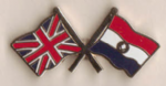 Great Britain and Paraguay Friendship Flag Pin Badge